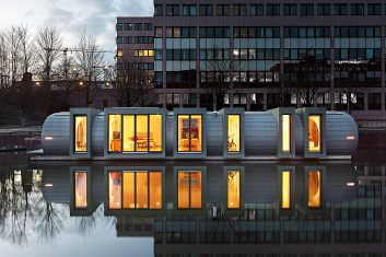 Article about houseboats in Hamburg-Hammerbrook, June 2019